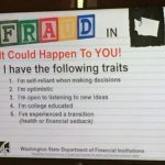 Fraud Training with #ConsumerProtectionWashington