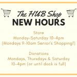 July 2020 HUB Shop Hours