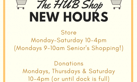July 2020 HUB Shop Hours